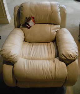 White Leather Recliner