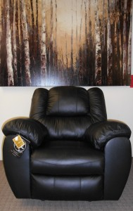 Leather Recliner black