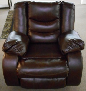 recliner leather dark